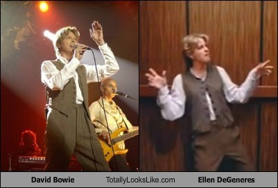 David Bowie Totally Looks Like Ellen DeGeneres