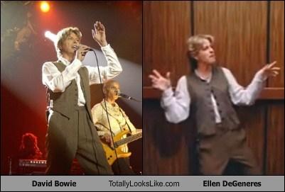 David Bowie Totally Looks Like Ellen DeGeneres
