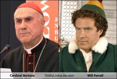 Cardinal Bertone Totally Looks Like Will Ferrell