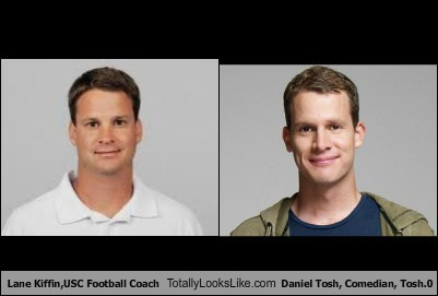 Lane Kiffin, USC Football Coach Totally Looks Like Daniel Tosh, Comedian, Tosh.0