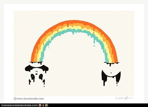 So thats what rainbows are made our of