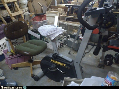 Redneck Recumbent Exercise Bike