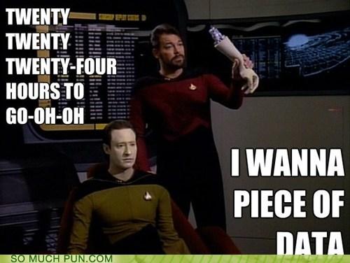 the ramones,similar sounding,data,Star Trek,i wanna be sedated