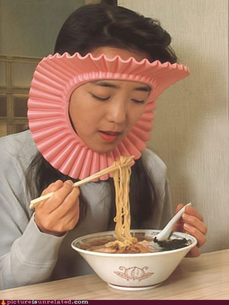 Noodle Protection... You Know, for Your Hair