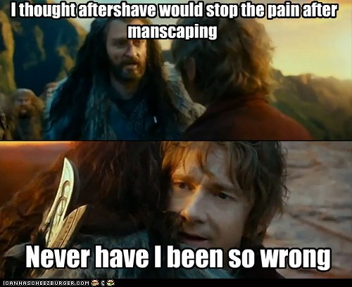 Sudden Change of Heart Thorin,manscaping,aftershave
