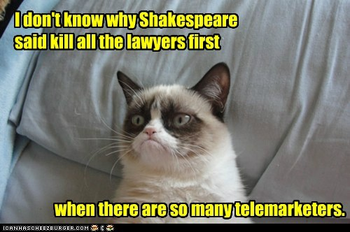 I don't know why Shakespeare said kill all the lawyers first