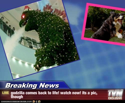 Breaking News - godzilla comes back to life! watch now! its a pic, though