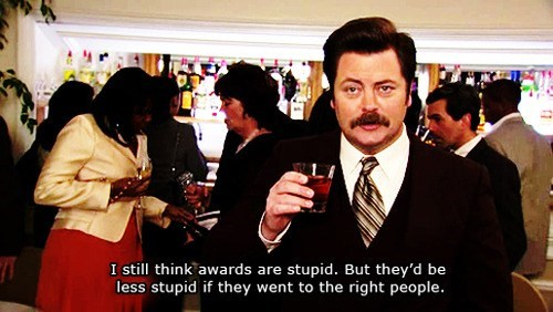 parks and recreation,ron swanson,Nick Offerman,academy awards,oscars