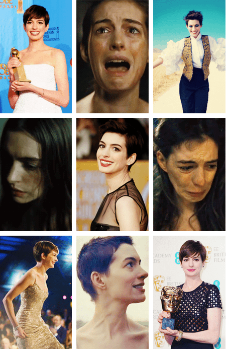 "Anne Hathaway: Winner for Best Supporting Actress in ""Les Misérables"""