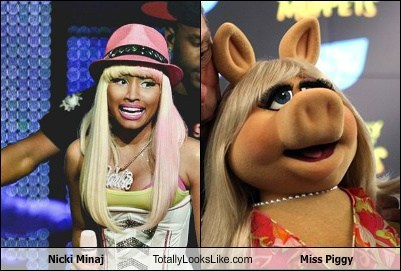 Nicki Minaj Totally Looks Like Miss Piggy