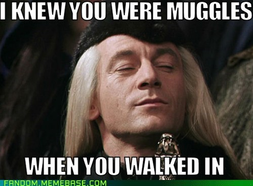 Harry Potter,muggles,lucious malfoy