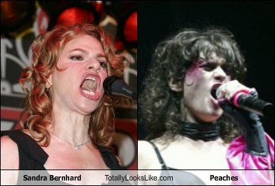 Sandra Bernhard Totally Looks Like Peaches
