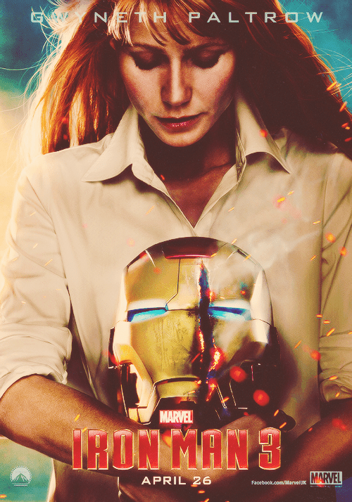 "Teaser Poster: Gwyneth Paltrow as Pepper Potts in ""Iron Man 3"""