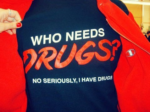 drugs,tshirts,here to help