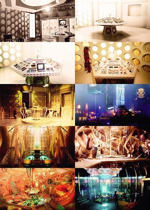 The TARDIS Interior Through The Years