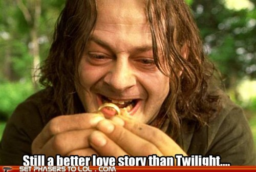 Lord of the Rings,still a better love story than twilight,Sméagol,ring,andy serkis