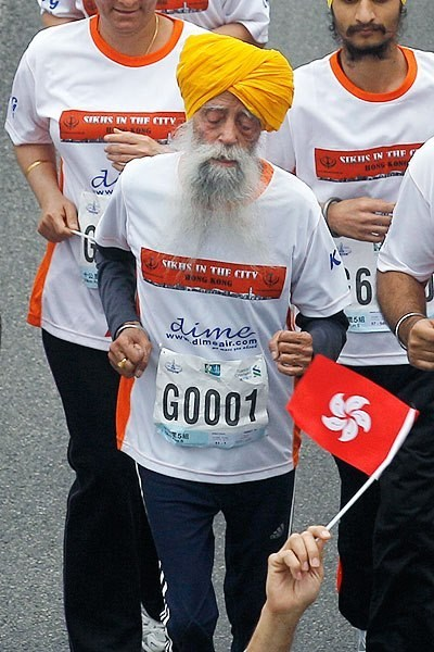 Fauja Singh is the Coolest 101-Year-Old Marathon Runner