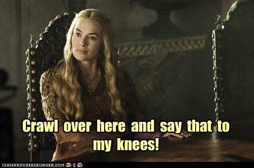 knees,Game of Thrones,lena headey,groveling,cers