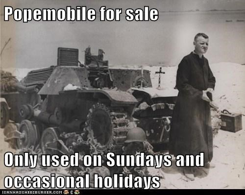 Popemobile for sale  Only used on Sundays and occasional holidays