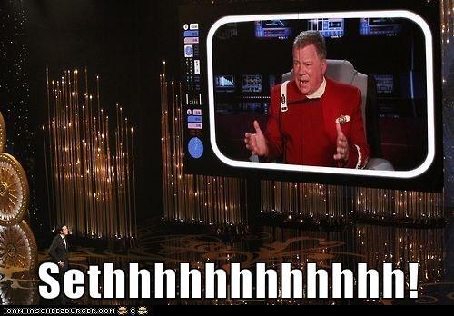 khaaaaan,Seth MacFarlane,William Shatner,oscars 2013