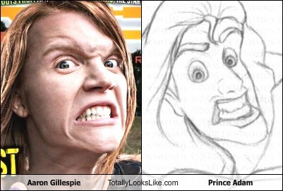 Aaron Gillespie Totally Looks Like Prince Adam