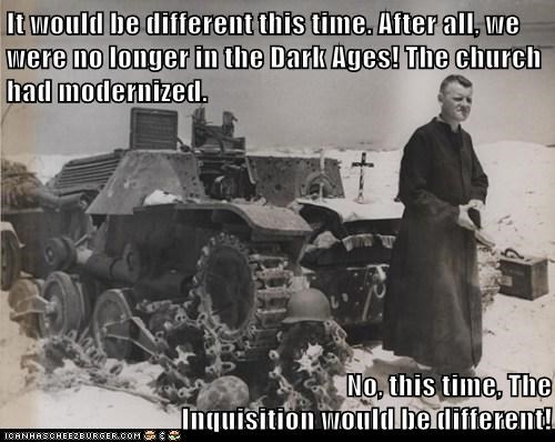 inquisition,tanks,priests,church