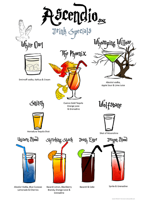 Harry Potter Cocktails