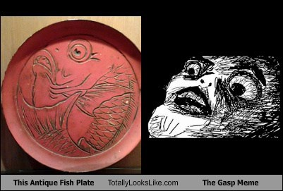 This Antique Fish Plate Totally Looks Like The Gasp Meme