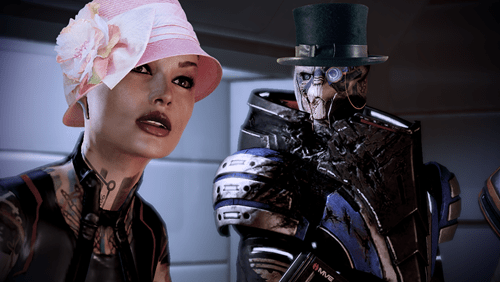 Garrus Calibrates Like a Sir