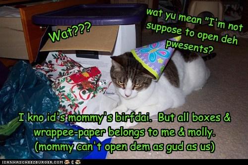 Hope yu hav a Happee Birfdai, molly-mommy!