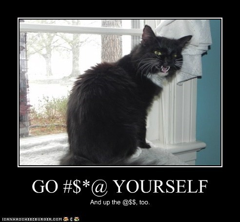GO #$*@ YOURSELF