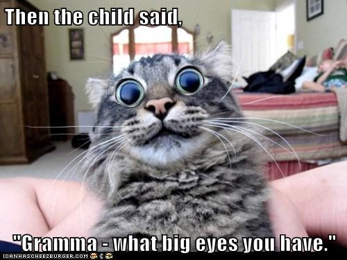 "Then the child said,  ""Gramma - what big eyes you have."""