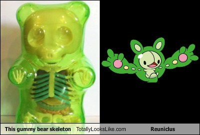 This Gummy Bear Skeleton Totally Looks Like Reuniclus