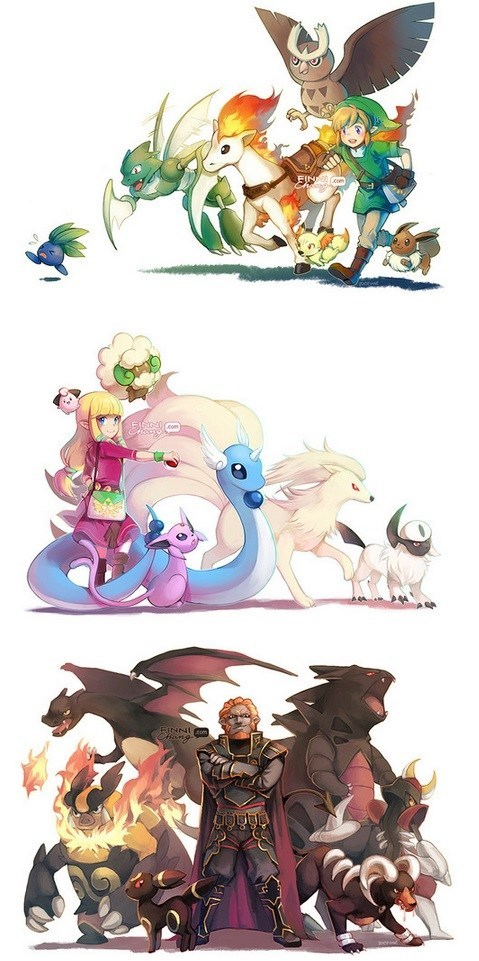 Pokémon,mashup,video games,zelda