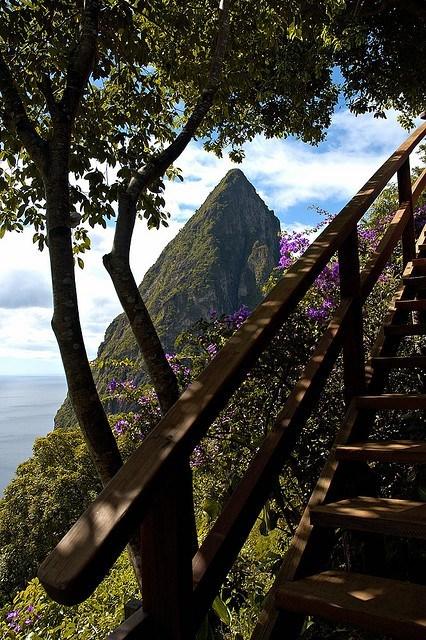island,mountains,pretty colors