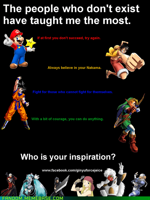 inspiration,anime,cartoons,video games