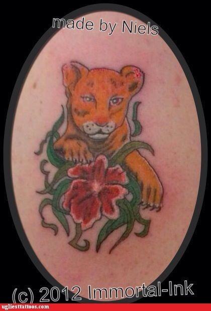 tigers,flowers
