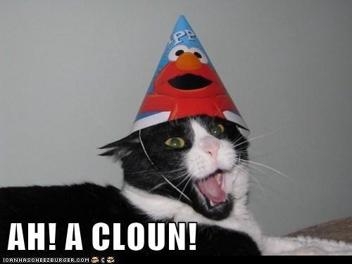 AH! A CLOUN!