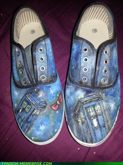 Custom Doctor Who Shoes