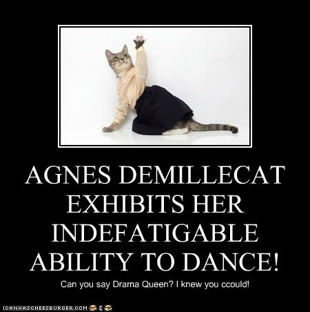 AGNES DEMILLECAT EXHIBITS HER  INDEFATIGABLE ABILITY TO DANCE!