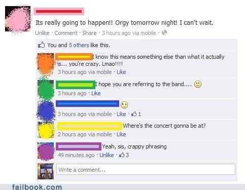 band names,exciting plans,concert,awkward phrasing