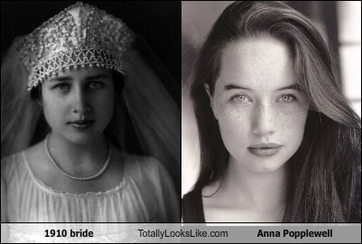 1910 bride Totally Looks Like Anna Popplewell