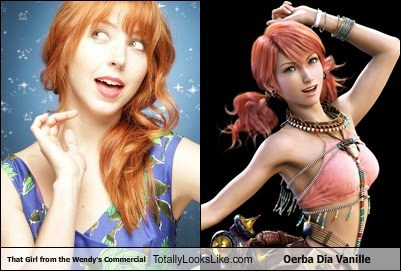 That Girl from the Wendy's Commercial Totally Looks Like Oerba Dia Vanille