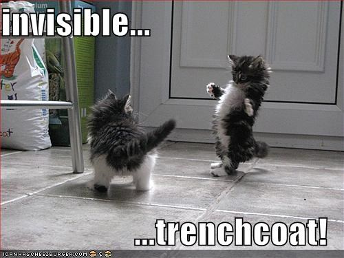 invisible...  ...trenchcoat!