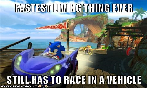 FASTEST LIVING THING EVER  STILL HAS TO RACE IN A VEHICLE