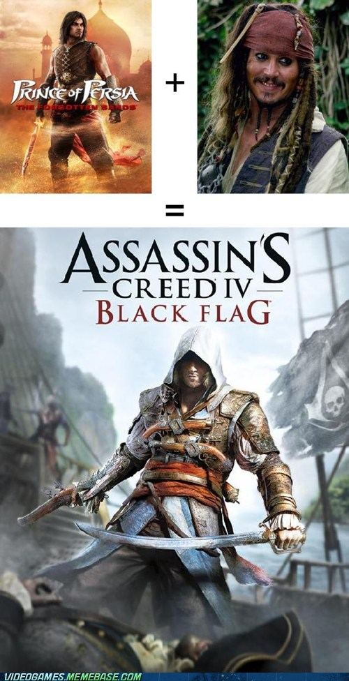 Prince of Persia + Pirates of the caribbean = AC 4 Black Flag