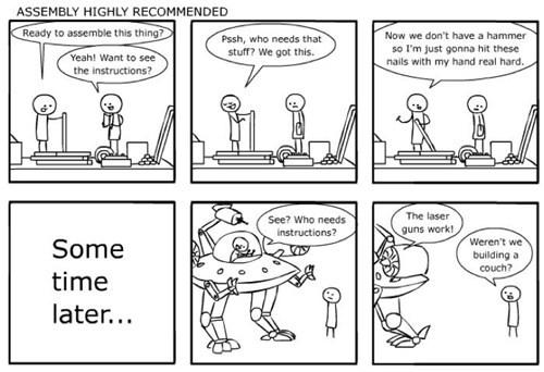 furniture,comics,robot,ikea,drawing board comic