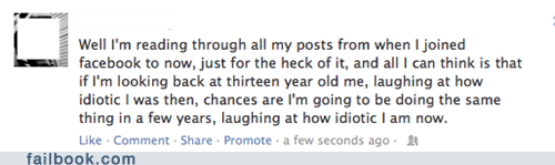 embarassed,teenage years,past self