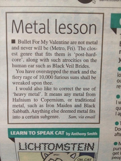 newspapers,bullet for my valentine,heavy metal,Music FAILS,g rated
