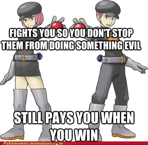 Team Rocket,gameplay,pokemon logic,video game logic